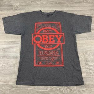 Mens Obey clothing Shirt Size LG